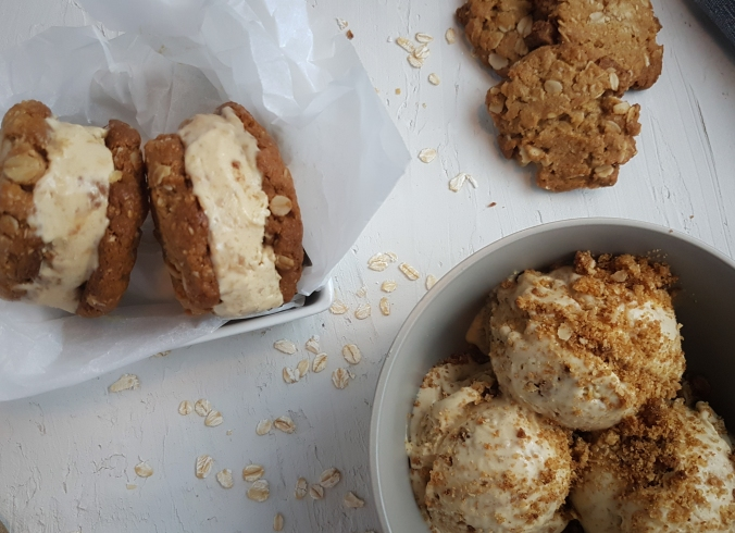 Anzac Biscuit Ice Cream Sandwich